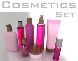 cosmetic bottles tube and flacons 3d model