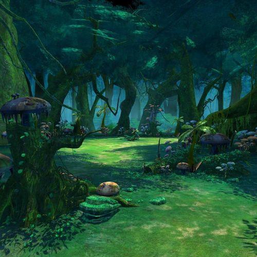 Cartoon Forest Scene3D model