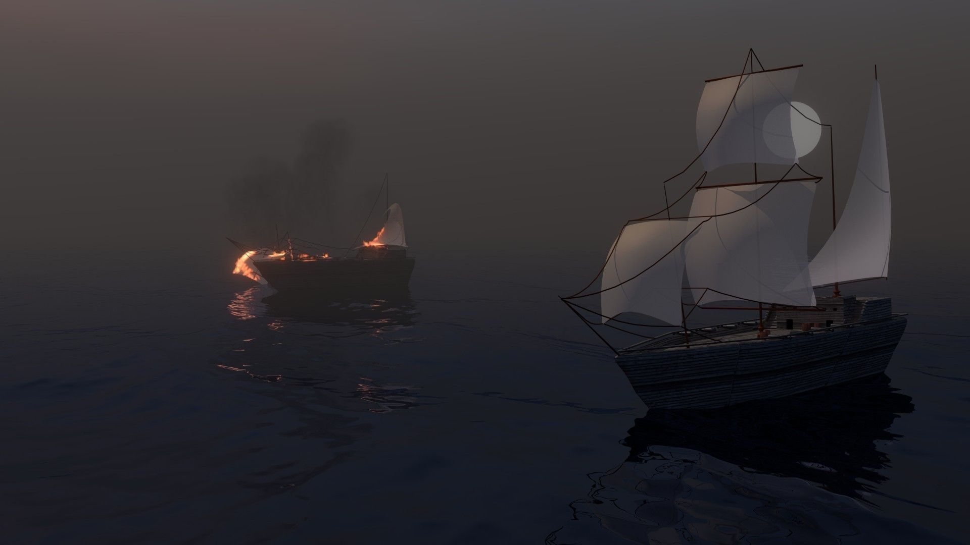 pirate ship scene not included only the ship free 3d model obj