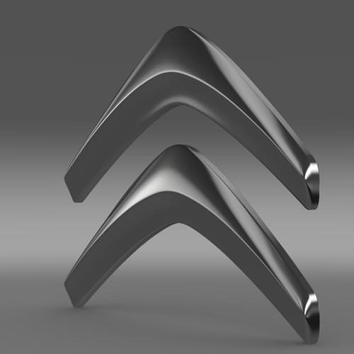 Citroen Logo 3d Model Max Obj 3ds Fbx C4d Lwo Lw
