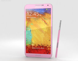 Samsung Galaxy Note 3 Pink 3D model