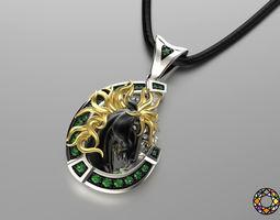 3d print model jewelry pendant wild horse 0179
