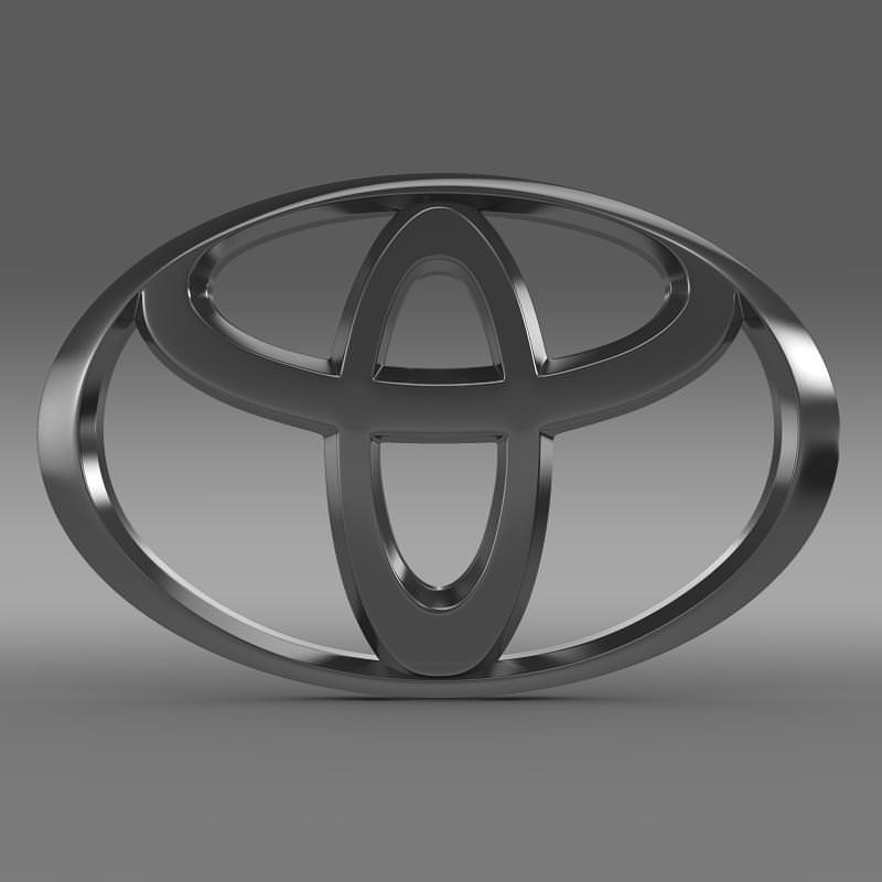 Toyota Logo 3D Model MAX OBJ 3DS FBX C4D LWO LW LWS