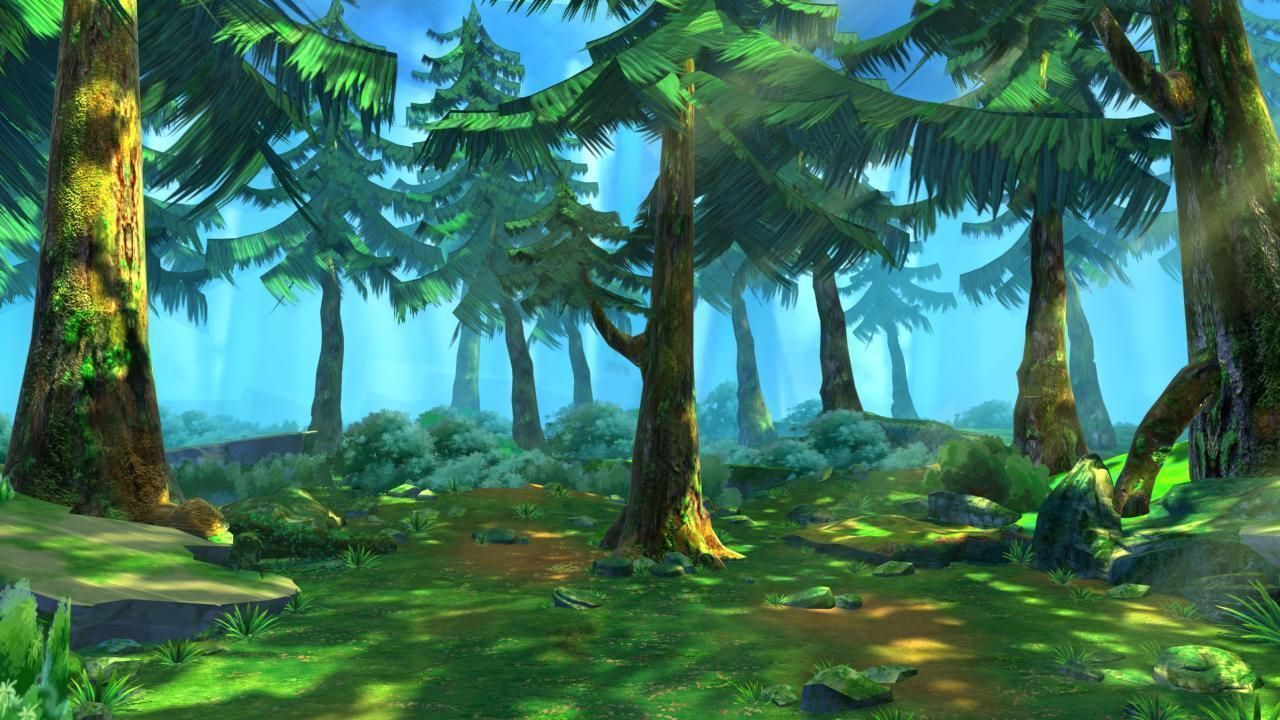 Cartoon Forest Scene 02 3d Model Max