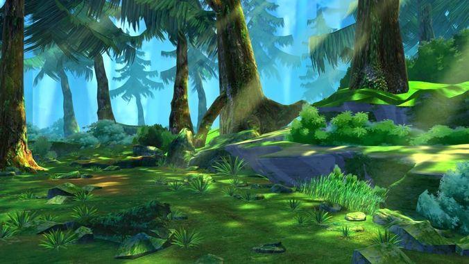 Wald Zeichentrick