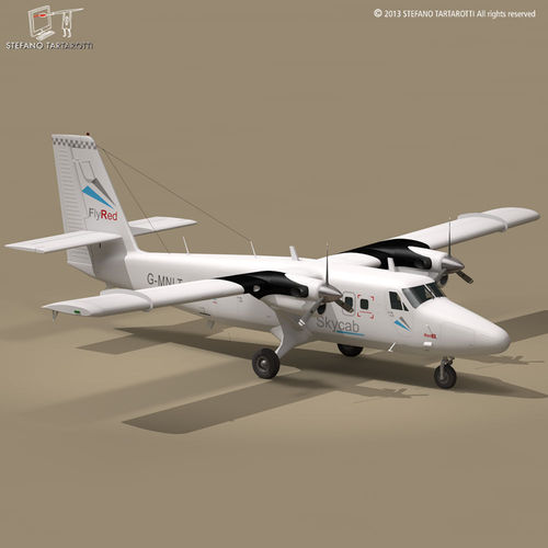 DHC6 Twin Otter3D model
