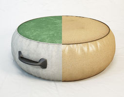 DIESEL Chubby Chic pouf L by Moroso 3D model