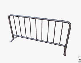 3D model Metal Barrier PBR