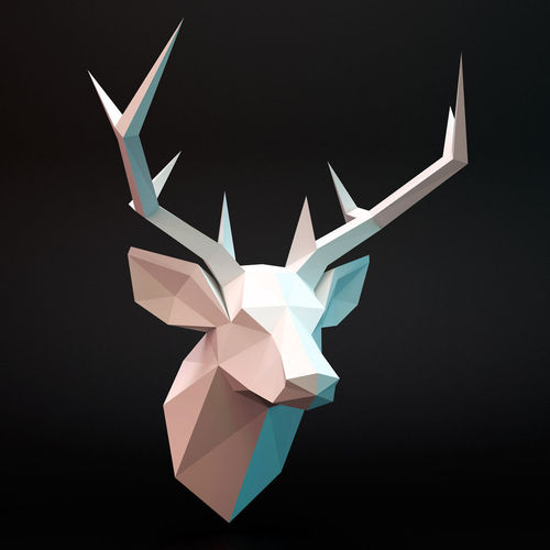 Head deer3D model
