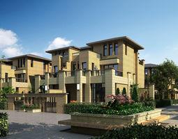 Town house architectural design-22 3D Model