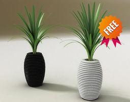 plant pot hard serralunga 3d