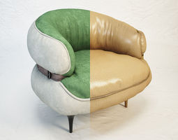 diesel chubby chic armchair by moroso 3d model