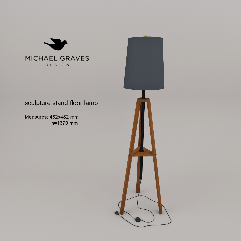 Michael Graves Sculpture Stand Floor Lamp 3d Model Max 3ds Fbx 1