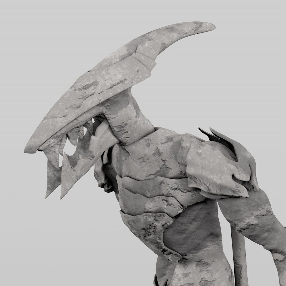 Monster 3d model 3d printable obj 3ds c4d stl for Monster 3d model