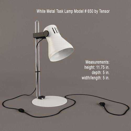 White Metal Task Lamp3D model