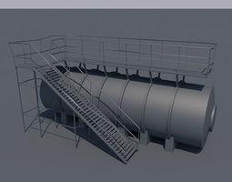 3D asset An Oil tank ready for texturing