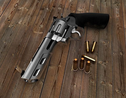 Smith and Wesson Model 629 Competitor 6 Weighted Barrel 3D Model