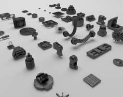 Technical parts collection 3D model