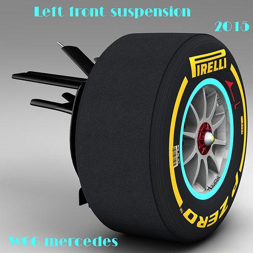 mercedes w06 front suspension 3d model obj mtl 3ds fbx c4d ma mb dae 1