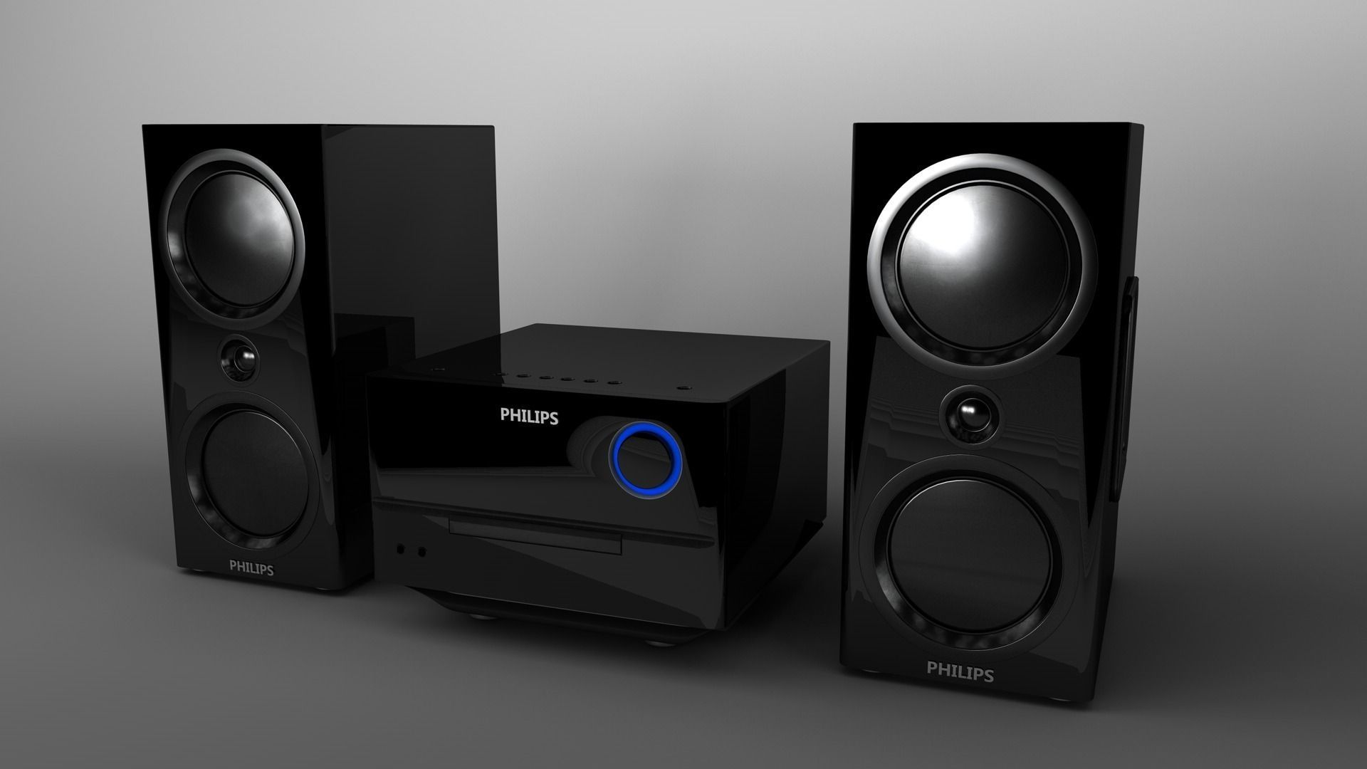 Philips Btm3160 Hifi System 3d Model 3ds Fbx C4d