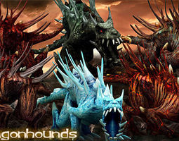 3DRT-Dragonhounds monsters 3D Model