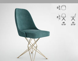 3d print model chair armchairs athena of the mauro lipparini