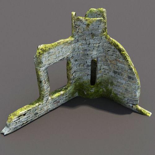 English Castle Ruin 33D model
