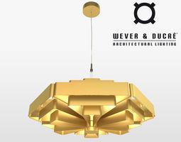 3d model wever ducre jules wabbes modern chandelier