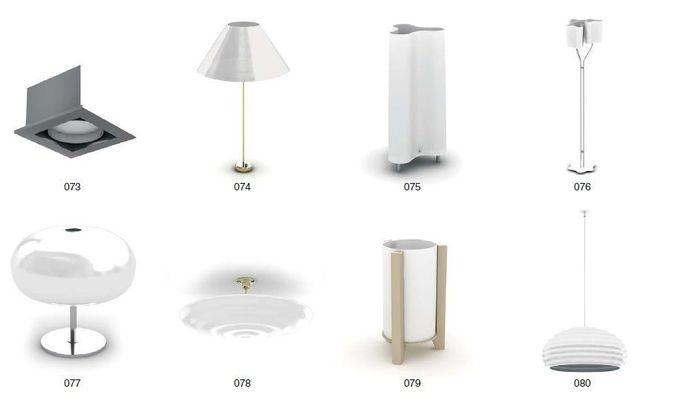 Tablelamp ceiling lamp3D model
