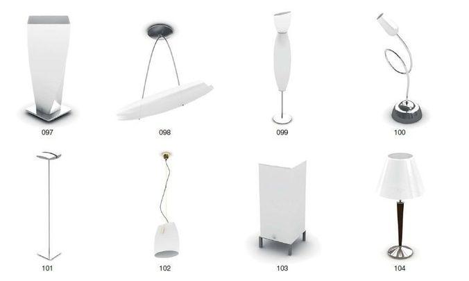 Modern Lamp and ceiling Lamp3D model