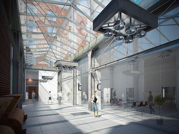 Corridor Business interior scene Render Ready3D model
