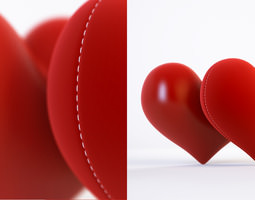 3d model and 3d scene with a heart 3D Model