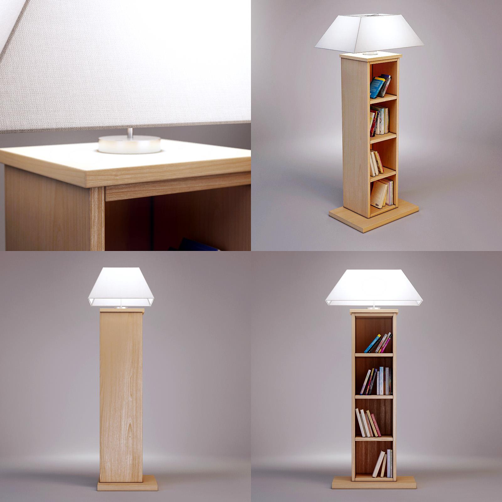 3d model of bookcase lamp casamilano cgtrader