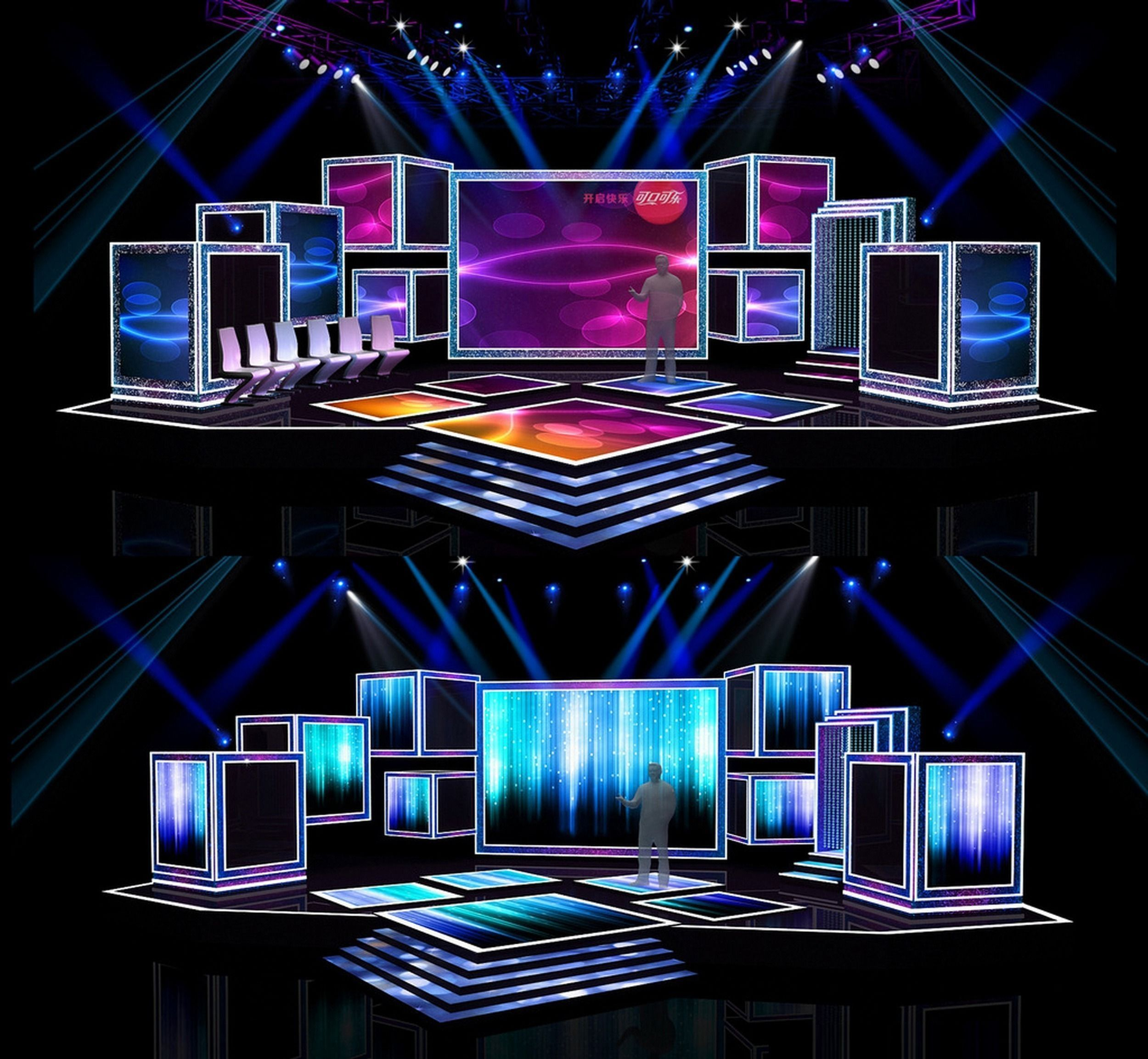Concert stage design 7 3d model obj for Decor 3d model