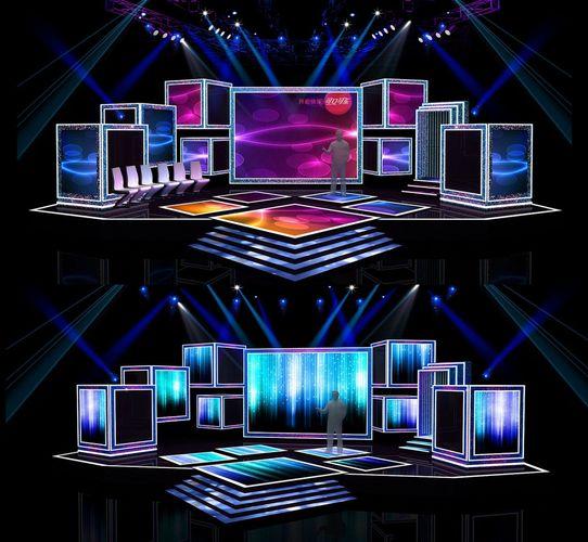 Concert Stage Design 7 3D Model OBJ