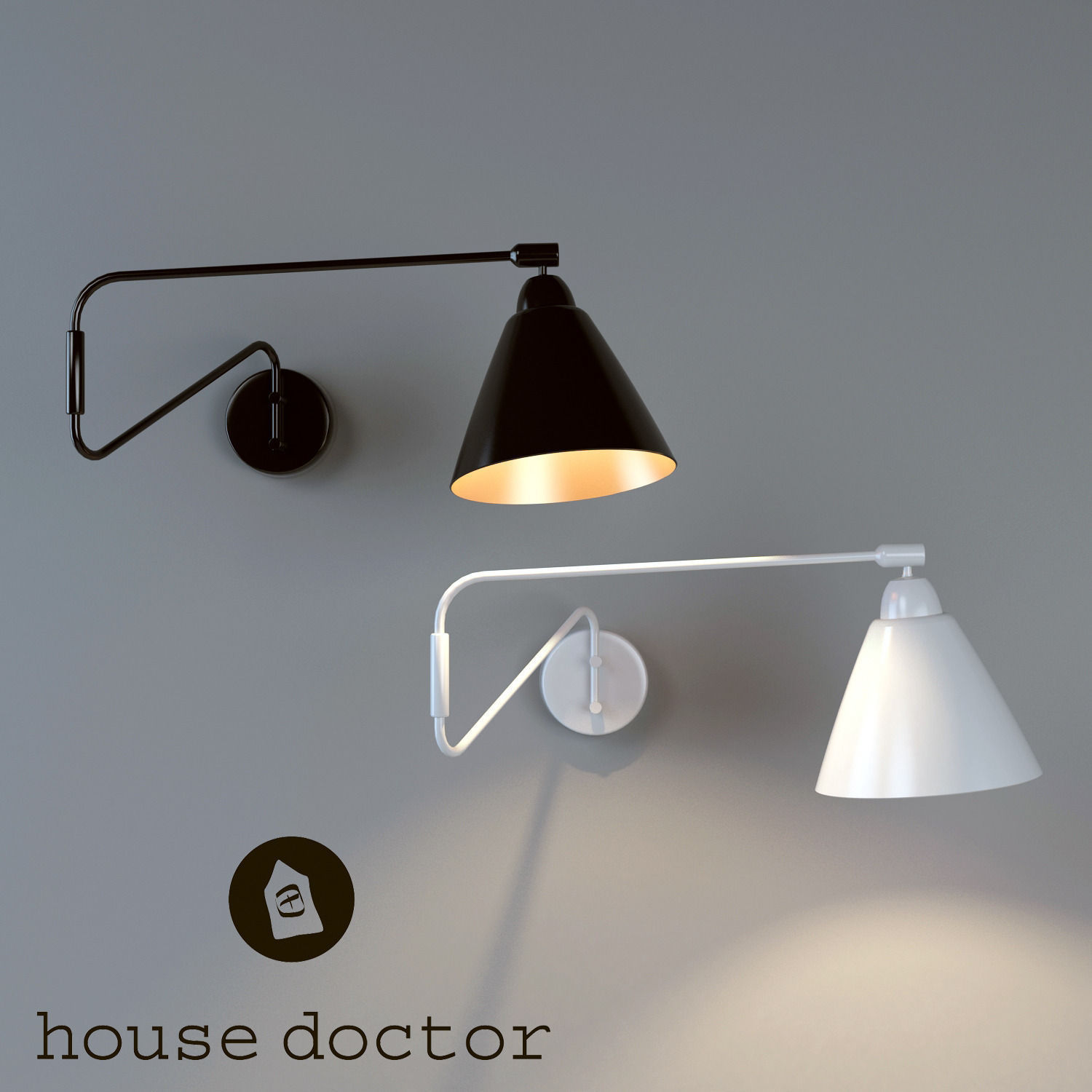 wall lamp house doctor 3d model max. Black Bedroom Furniture Sets. Home Design Ideas