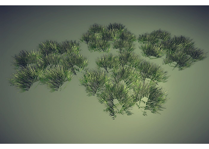 grass 3d model low-poly obj mtl 3ds lwo lw lws hrc xsi blend 1