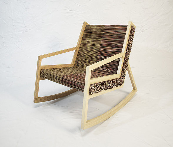 studio vacek haluz  rocking chair by tomas vacek 3d model max obj mtl fbx 1