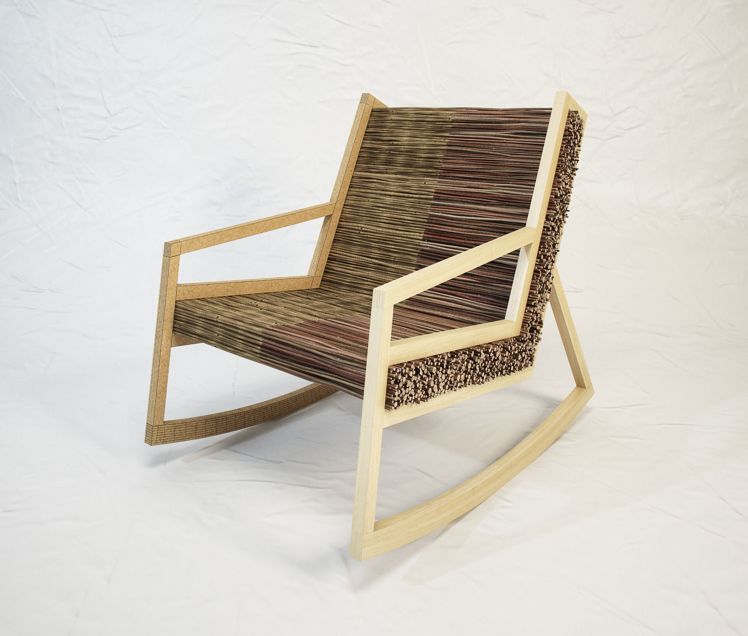 STUDIO VACEK Haluz  rocking chair by Tomas Vacek