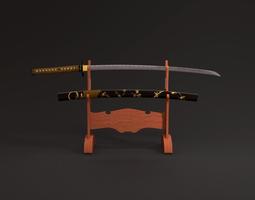3D model Katana sword