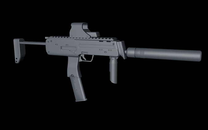 mp7 cinema 4d 3d model c4d 1