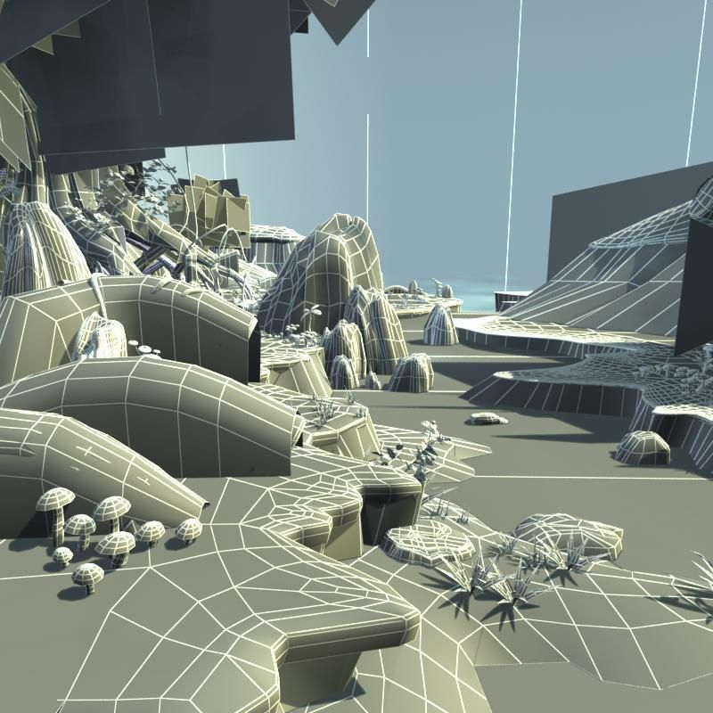 Exterior: Cartoon River Scene 3D Model MAX