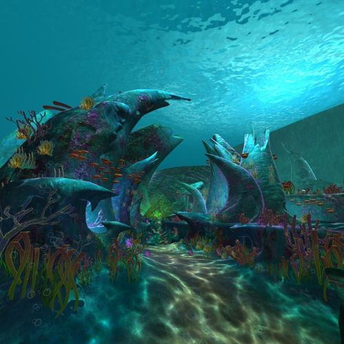 Cartoon Undersea Scene3D model