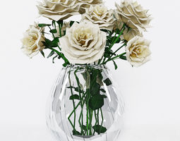 bouquet of roses 3d
