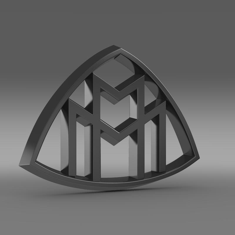 Maybach Logo 3D Model .max .obj .3ds .fbx .c4d .lwo .lw