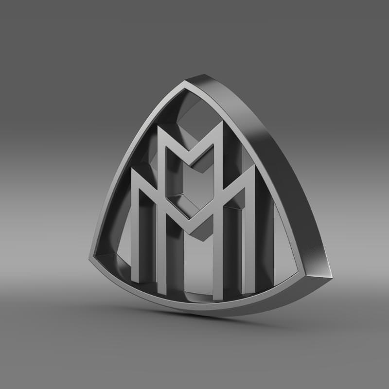 Maybach Logo 3d Model Max Obj 3ds Fbx C4d Lwo Lw