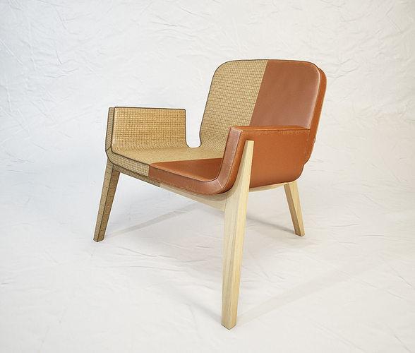 Poltrona frau jockey armchair by francois azambourg 3d for Poltrona 3d