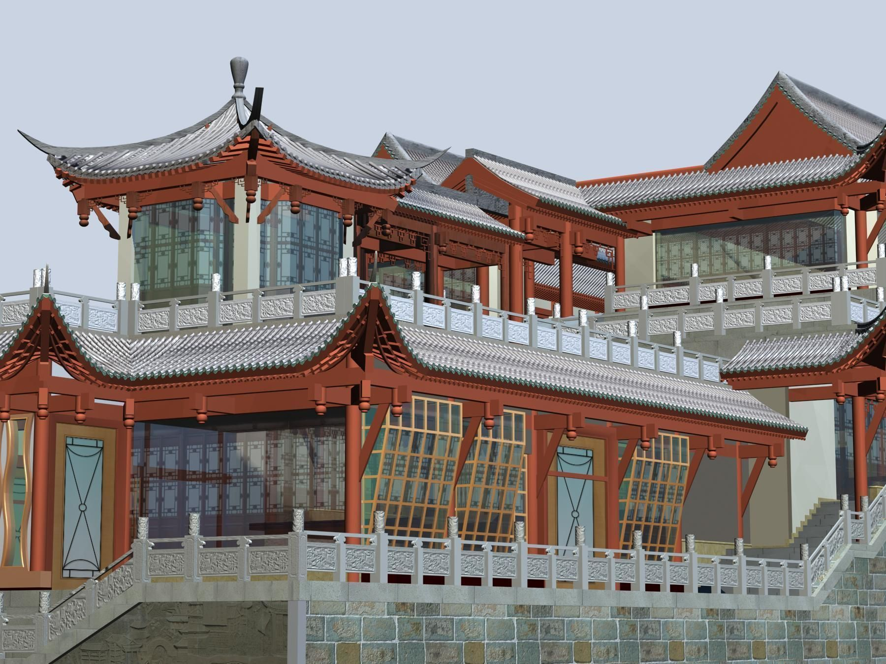 Anshun China  city photos gallery : China ancient birdgr 2 AnSHun day scene 3D Model .max .3ds CGTrader ...