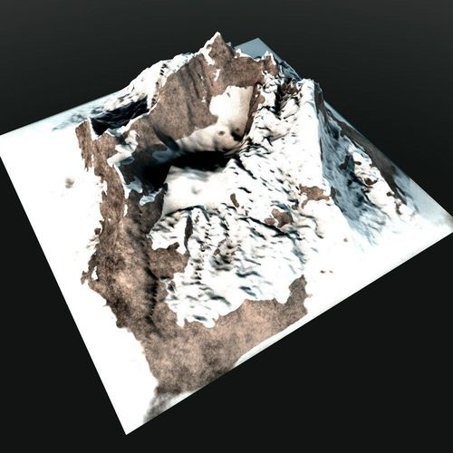 how to make a 3d model of a mountain