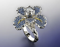 iris fashion ring 0004 3d model obj fbx ma mb stl